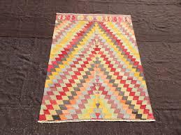 small turkish kilim rug anatolian kilim rug 4 9 x 6 3 feet 145 x 192 cm