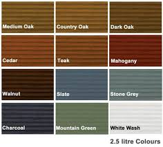 Ronseal Varnish Colour Chart Ronseal Decking Stain 2 5l