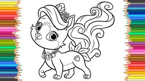 Coloring Pages Palace Pets Kitty L Coloring Book L Videos For