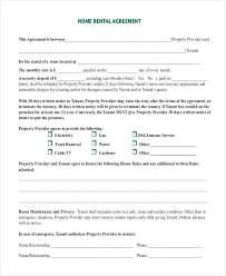 house rental agreement sample free 9 sample rental agreement forms in pdf doc