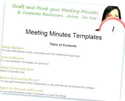 Meeting Minutes Format Sample Small Business Meeting Minutes Template