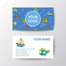 Business Card With Kids Toys Template Corporate Style For Toy