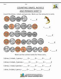 Kids : Counting Coins And Money Worksheets Printouts Math Grade ...