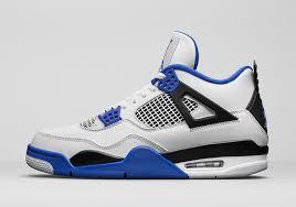 jordan shoes retro 4. air jordan 4 \u201cmotorsports\u201d release date: march 25th, 2017. price: $190. color: white/game royal-black shoes retro 0
