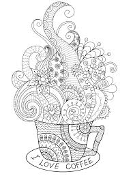 coffee coloring page. Beautiful Page I Love Coffee Adult Coloring Page You Can Print For Free To Coffee Coloring Page A