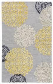 eden harbor wool rectangular area rug 2 x 3 yellow grey ivory white medallion