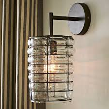 glamorous wall sconce with plug chandelier glass material stuck to the wall large