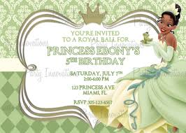 printable princess and the frog party invitations princess printable princess and the frog party invitations