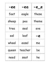 Words With Photo Here Is A List Of Words With The Long E Sound That Kids Can Play