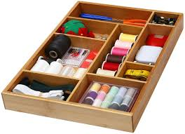 office drawer organizers. YBM Home \u0026 Kitchen Bamboo Utility Drawer Organizer For Kitchen, Bathroom, Office And Cosmetics Organizers R