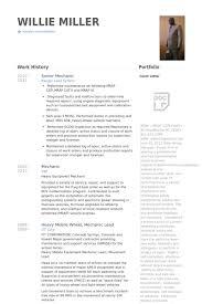 Mechanic Resume Samples Visualcv Resume Samples Database