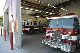 the truck bays of the new danbury fire department training facility monday afternoon september