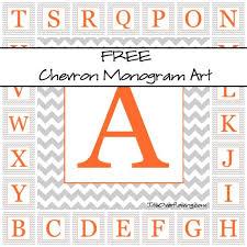 Printable Chevron Letters Chevron Monogram Free Print Free Printables Monogram