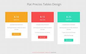 web table design. Flat Precious Tables Design Widget Template Web Table C