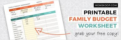 Family Budget For A Month How To Start A Family Budget Printable Worksheet
