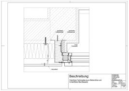 B 01 0002 Anschluss Festverglasung An Betonstütze Und Hinterlüfteter