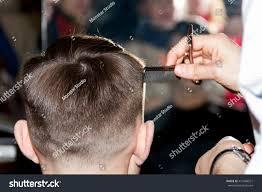 Best Hair Designer Professional Haircut Process Best Hair Designer Stock Photo