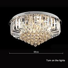 modern 30w crystal chandelier ceiling fixtures flush mount e14 within crystal light fixtures ceiling