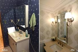 powder room lighting easy update to create beautiful industrial bathroom lighting for less than