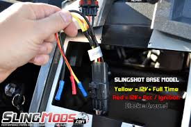 scosche aftermarket stereo power harness with oem backup integration for the polaris slingshot 2016
