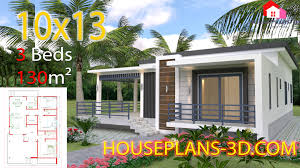 Home Design With Roof Terrace House Design 10x13 With 3 Bedrooms Terrace Roof