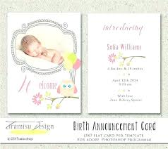 Baby Announcement Template Design – Traguspiercing.info
