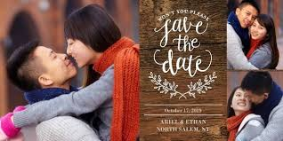 save the date cards wedding walgreens photo save the date rustic