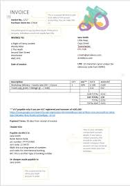 Example Of A Invoice Invoice Template The Arts Development Company