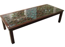 glass center table photo