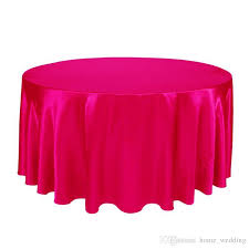 whole hot 275cm round satin tablecloth table cover for wedding party table cloth restaurant banquet decorations round plastic tablecloth holiday table