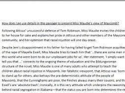 to kill a mockingbird model essay on miss maudie by  revision
