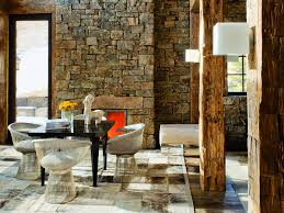 Small Picture Rustic stone adds texture to this modern space Modern Rustic