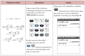 use graphing calculator to check quadratic function
