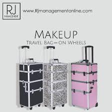 makeup travel bag on wheels