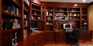 home office unit. Home Office Library Custom Wall Unit Stained