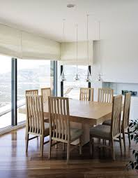 pendant lighting over dining table. Amazing Images Of Dining Room Design And Decoration With Various White Wood Chair : Artistic Pendant Lighting Over Table