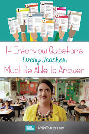 Common Teacher Interview Questions And Answers The Most Common Teacher Interview Questions Weareteacehrs