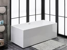 finesse fbt verona 6624 ch verona 65 inch x 31 inch freestanding acrylic soaking bathtub in white