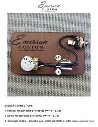 pre wired kit la cabronita emerson emerson custom pre wired kit la cabronita emerson