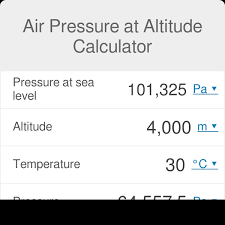 Air Pressure At Altitude Calculator Omni