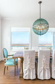 sea glass chandelier lighting fixture coastal decor blue ombre beach house chandelier