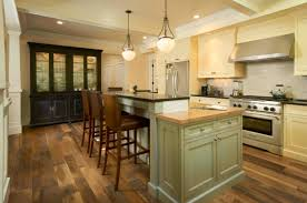 oak wood for furniture. Remodel Old Kitchen Design With Modern Furniture And Oak Wood Cabinet Painted White Color Plus Island Marble Countertop Brown Leather Stools For