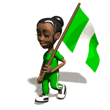Image result for sad man painted in nigerian flag's color