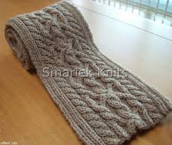 Cable Knit Scarf Pattern Fascinating Triumph Cable Scarf Pattern Smariek Knits