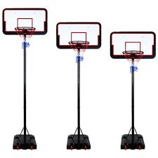 basketball net height adjule 205 305cm 3 meter hoop weighted backboard stand
