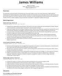 Vocational Teacher Resume Sample Resumelift Com