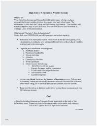 Extra Curricular Activities For Resumes Extracurricular Activities Resume Sample Terrific High School Resume