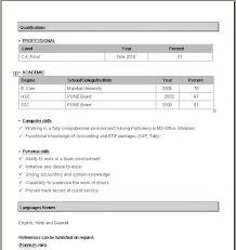 Creative Design Simple Resume Format In Word Word Resume Formats