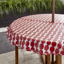 outdoor tablecloths round outdoor vinyl tablecloth red polkadot