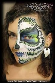 face painting day of the dead sugar skulls san francisco